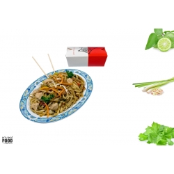 Chicken Fried Noodles incl. Softdrink
